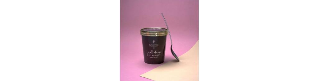 Mousse au chocolat noir en pot de 300gr net.