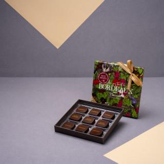 """Écrin """"Un Instant à Bordeaux"""" RIVE DROITE - 9 chocolats"""